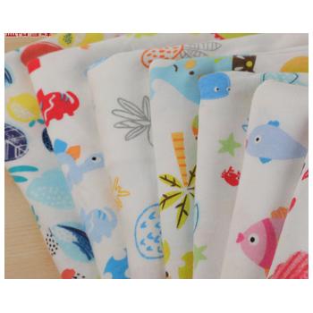 厂家定制批发纯棉印花汗布儿童卡通内衣贴身面料针织免费拿样
