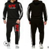 跨境专卖新款UFC三条杠印花卫衣套装男士运动休闲服江西热销