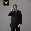 羊毛呢子大衣男士中长款加厚欧美风格羊毛呢子大衣男高级订制西服