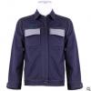 牛仔反光服套装工装定制防烫耐磨长袖劳保工人工服批发