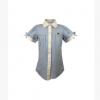 Mayzoo儿童纯 棉休闲泡泡袖短袖衬衣 中小学及幼儿园园服定制定做