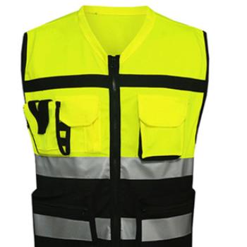 反光背心定制荧光黄夜间环卫交通指挥官骑行衣安全防护反光马甲