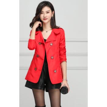 厂家直销2019春秋风衣女外套时尚百搭新款修身显瘦短款上衣外套潮