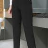 76# 胖mm九分裤弹力裤200斤超大码女装加肥加大西裤黑色 一件代发