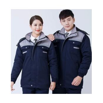 冬季长袖加厚保暖工作服套装男棉袄棉衣汽修劳保可拆卸服上衣定制