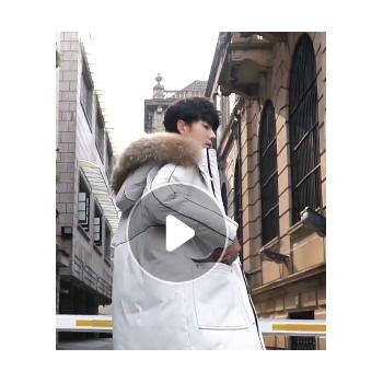 多款2019冬季新款韩版羽绒服男式时尚潮流中长款青年加厚保暖外套