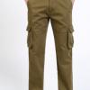 跨境加厚大码男裤纯棉加绒休闲裤中腰直筒男士长裤多袋工装裤男