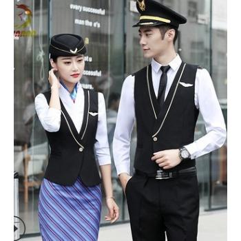 定制航空高铁乘务员男女制服酒店前台售楼部工作服职业套装多色
