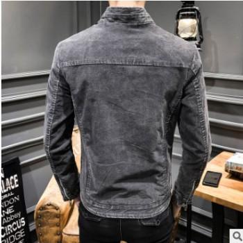 新款牛仔外套男韩版潮流复古修身春秋季休闲帅气水洗夹克