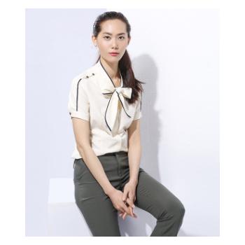 工作服厂家直销 OL雪纺衬衫定制 职业女裤套装上班白领办公室工装