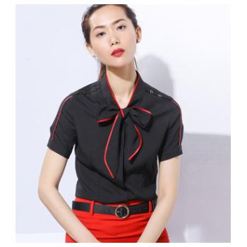 工作服短袖 现货批发气质女式职业白领上班族衬衫女裙套装职业装