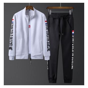 男式外套休闲2019春秋新款韩版男式卫衣休闲套装长袖男装运动套装