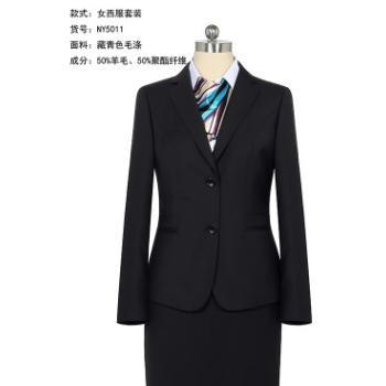 2019新款职业装两件套套装毛料韩版西服女式秋冬现货珏瑞女西装
