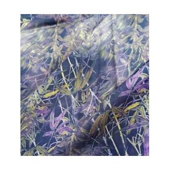 现货供应60支竹贡缎数码印花园网活性印花服装面料人造棉活性印花