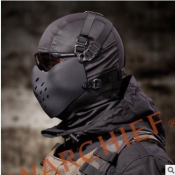 新款M07悍将半脸防护面具 CS战术面罩防护可挂FAST头盔