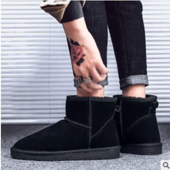 新款LVUFCUGG5854女鞋真皮大码男士加绒棉鞋lvufсugg短筒雪地靴