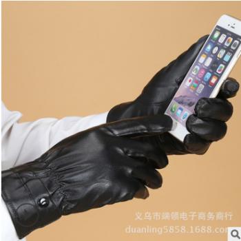 PU保暖触屏手套新款触摸屏手套真皮手套摩托车手套摆地摊好产品