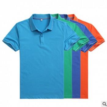 现货批发时尚短袖t恤精梳棉夏季透气吸汗短袖定制 团队广告文化衫