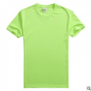 批发夏季速干圆领短袖纯色运动透气吸汗t恤马拉松文化衫班服定制
