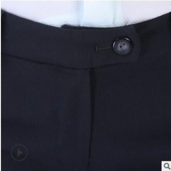 春秋新款职业休闲西装裤长裤宽松黑色裤子高腰坠感阔腿裤 女西裤