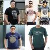 夏季加大码棉男装短袖T恤 胖子男式加肥加大宽松半袖圆领恤衫