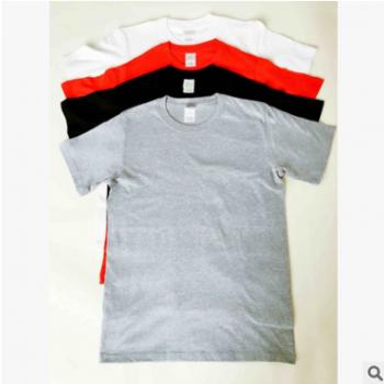 纯色纯棉圆领短袖空白T恤班服DIY手绘1文化衫活动广告衫批发