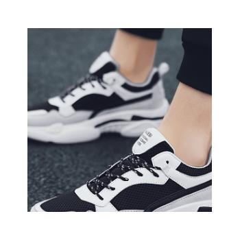 韩版老爹鞋百搭厚底青少年运动鞋男春季新款男鞋子男式运动风单鞋