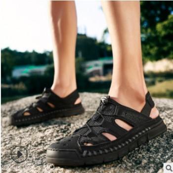 男鞋夏2020新款凉鞋户外耐磨沙滩鞋男跨境大码休闲男士夏季凉拖