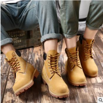 潮流百搭情侣马丁鞋男女时尚休闲真皮靴子耐磨透气机车靴冬季保暖
