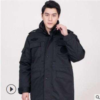 新品多功能大衣物业保安加厚棉工作服防寒保暖防静电棉袄可定制标