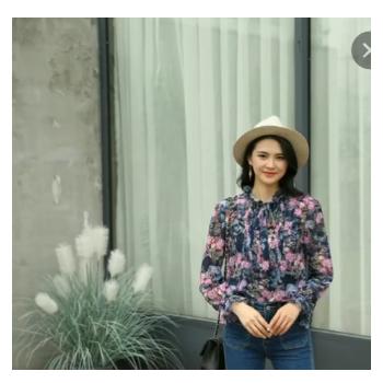 2020雪纺碎花衬衫女小清新春季韩版百搭上衣长袖印花小衫一件代发