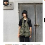 户外摄影潮牌情侣款军事机能战术工装多口袋男女马甲背心坎肩
