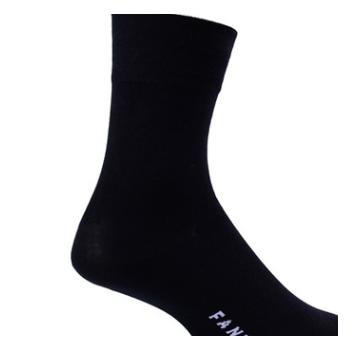 夏季超薄透气竹纤维男士袜子商务黑色外贸原单中筒松口FA