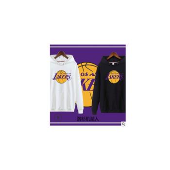 秋冬男装运动外套NBA连帽衫勇士队球队 湖人队徽篮球卫衣一件代发