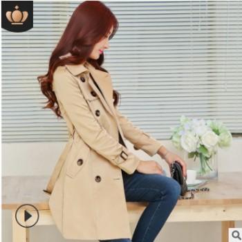 2020新款春装女式风衣外套春秋韩版大码修身显瘦流行中长款风衣女