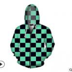 鬼灭之刃 3D卫衣 拉链开衫连帽运动cospaly周边卫衣外套