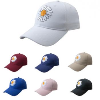 2020小雏菊棒球帽韩版百搭鸭舌帽GD男女同款春夏防晒遮阳帽情侣帽