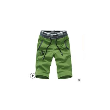 男士沙滩裤 批发 男式夏季运动短裤男裤子 系带五分裤新款休闲裤