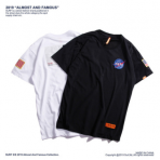 SURF男装丨2019夏新品NASA联名徽章刺绣贴布宽松短袖欧美潮牌t恤
