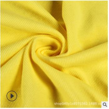 工厂直销 氨纶螺纹 领口袖口打底衫面料 罗纹布料罗文