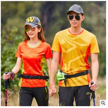 夏季情侣速干衣运动休闲短袖户外骑行钓鱼防晒服一件代发可定LOGO