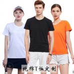 高档纯棉圆领t恤定制广告衫定做文化衫班服活动服来图定制印LOGO