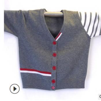 男童毛衣开衫2019童装新款针织棉毛线外穿空调服厂家现货一件代发