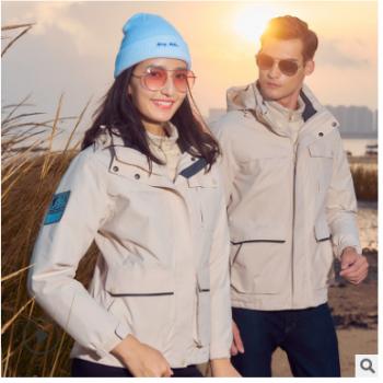 可定制户外羽绒冲锋衣男女秋冬三合一可拆卸登山服两件套滑雪服女