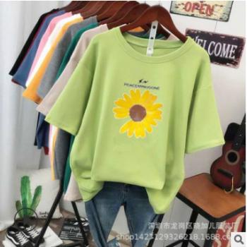 新款大码宽松女式t恤1-5元厂家直销批发地摊 外贸女装货源9.9包邮