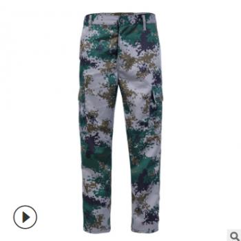 秋冬新款数码军迷服军绿色上衣迷彩服 工装作训军迷外套 套装夹克