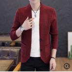 春季开衫线衣外套男士长袖针织衫薄款青少年褂子男子潮流修身毛衣