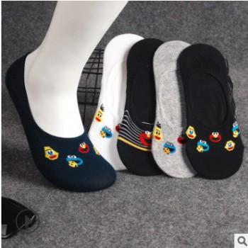 袜子女夏季新款个性卡通浅口女船袜ins潮芝麻街隐形女袜 厂家直销