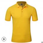 翻领广告衫定制短袖工作服印字订做纯色活动服文化服来图印LOGO