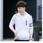 新款青少年防晒衣男夏季户外超薄透气韩版修身潮学生连帽防紫外线